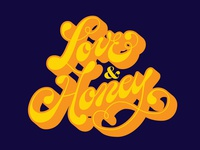 Love & Honey hand lettered