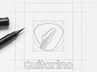 Guitar Music Shop Logo Sketch