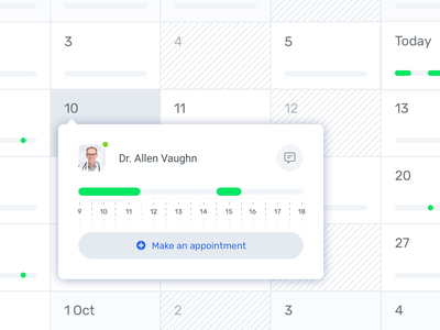 Medical appointment calendar design sketch app timeline scheduler calendar ux ui appointments medical doctor