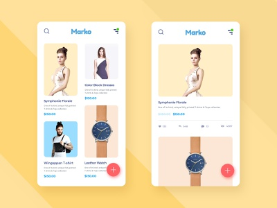 Shopping App Design shop details watch dress app design app shop