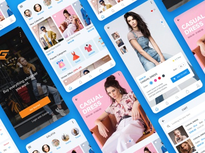 Shopping App Design branding ui ecommerce creative fashion modern clean shopdetails shop shopping app app