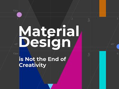 Material Design dark designrules material design app website design modern creative clean