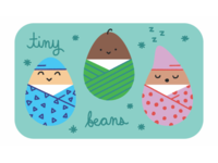 Baby theme gift card design