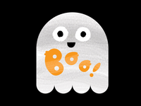 Ghost sticker...halloween sticker project