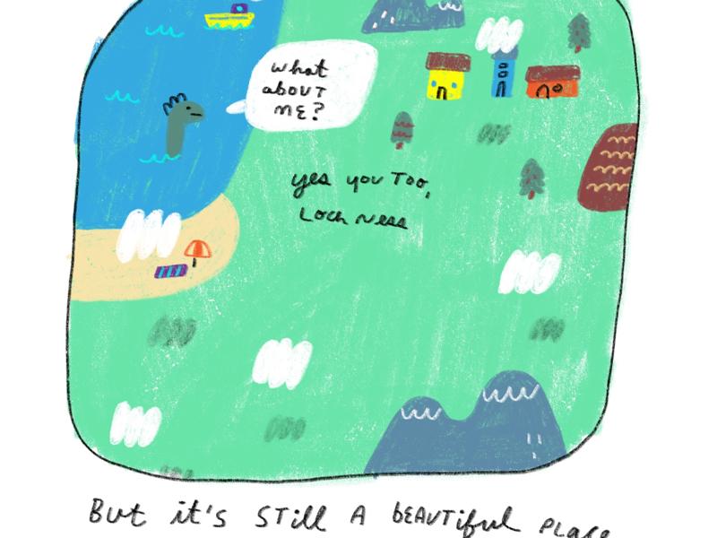 Last page from short story illustrator illustration kidsbook kidlit story short