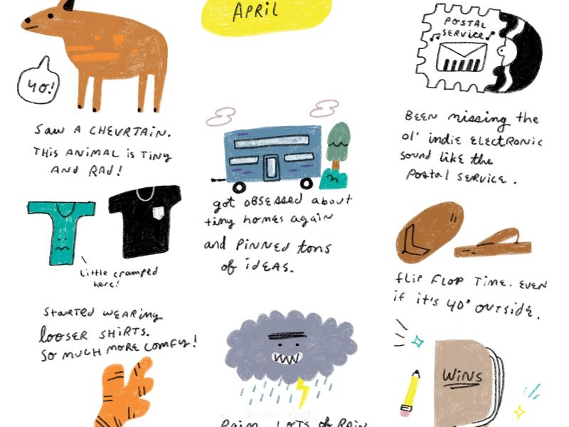April 2019 illustrator journal illustration 2019 april month