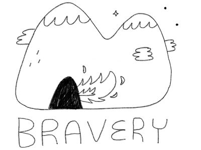 Secondary logo for Whispers to Bravery podcast