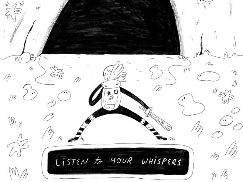 Ep: 01 Listen to Your Whispers quest fantasy illustration art podcast
