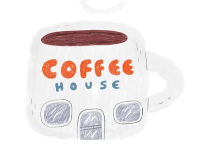Coffee house illustration kidsbooks kidlit coffeehouse house coffee