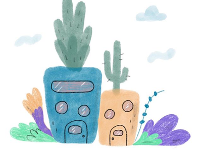 House plants 🌱 editorials kidlit illo illustration house color plants