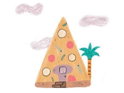 🍕 🏡 kidsbooks kidlitart kidlit illustrator illo anchovies house pizza