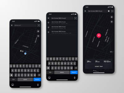 Tesla Mobile App Redesign: Mapping
