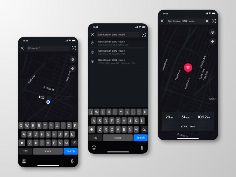 Key Fob App >> Tesla Mobile App Redesign Mapping By Matthew Farmer On Dribbble