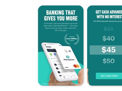 MoneyLion App Store Cards ui ux figma screenshots design app store