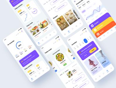 Health & Wellness Mobile App - Screens Overview