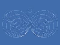 Butterfly - golden ratio logo