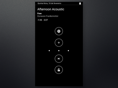 Moto display Spotify  spotify rebound motox unlock motodisplay