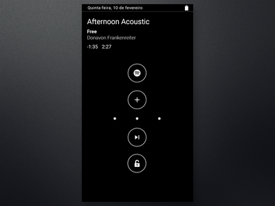 Moto display Spotify  spotify rebound motox unlock motodisplay