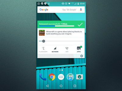 Cleaning widget material design android widget cleaning