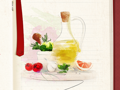 ingredients in watercolor. cookbook watercolor ingredients photomanipulation