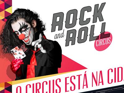 Circus Lineup joker clown circus rock poster geometry triangles colorful clowns diagonal