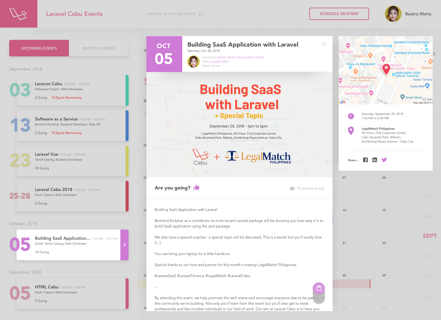 Paulo Trajano / Projects / Laravel Cebu | Dribbble