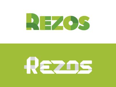 Rezos branding type typography logo design logo