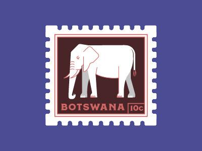 Botswana Stamp africa illustration elephant botswana postage stamp stamp