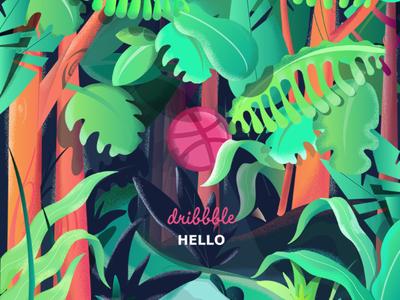 Dribbble Hello from jungle