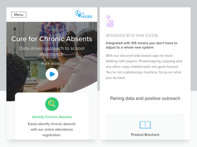 Marketing - Mobile Shots k-12 education video cards news responsive app mobile