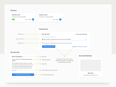 Style Guide startup card style guide onboarding progress wizard ui dashboard