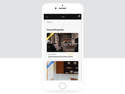 PRP - M1 Mobile mobile dashboard sidebar tags landing header ratings marketplace app