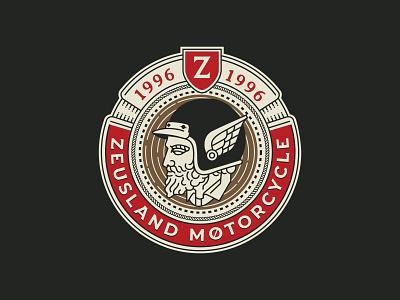 Zeusland Badge Design ui flat illustration design graphicdesign flatdesign illustrations branding logo graphic design