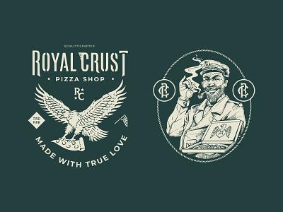 Royal Crust Brand illustration heritage american label vintage design badge design badges vintage logo branding design illustration