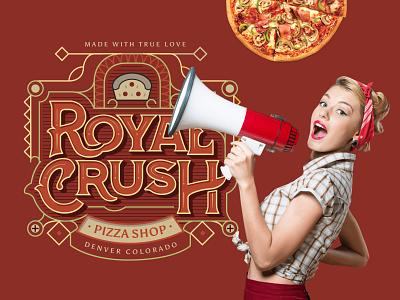 Royal Crust Pizza design flatdesign graphicdesign vector illustration branding flat illustration illustrations