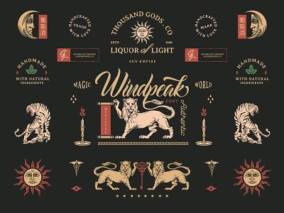 Windpeak Font Display label american vintage design vintage badge design badges design graphicdesign logo illustration flatdesign