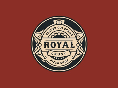 Royal Crust Badge ui flatdesign design graphicdesign branding vector logo
