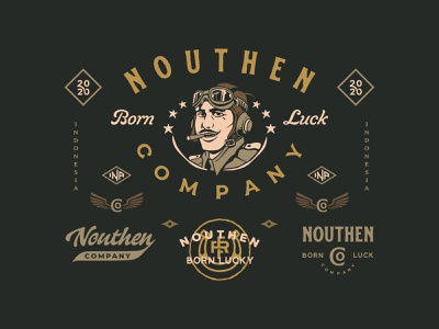 Nouthen Brand vintage logo graphicdesign illustration illustrations vintage badge design badges branding logo