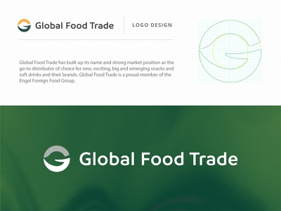 Global Food Trade - Logo brand identity graphic design vector flat illustration graphicdesign design ux ui flatdesign branding logo