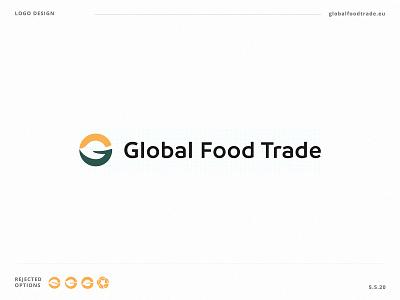 Global Food Trade logo work branding vector design graphicdesign flatdesign logo ux ui