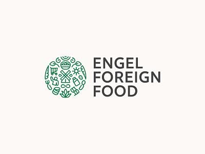 Engel Foreign Food - Logo Design illustration flat illustration vector graphicdesign design flatdesign branding logo