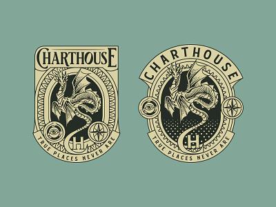 Charthouse Logo Design badge flat illustration flatdesign vector graphicdesign design branding logo