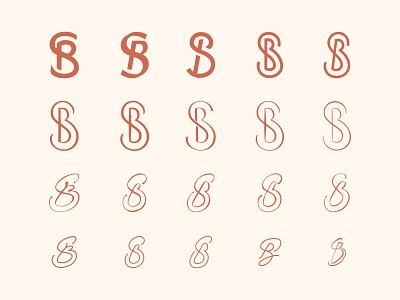 SB logo exploration monogram logotype vector flat illustration design graphicdesign flatdesign branding logo