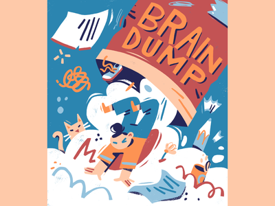 Brain Dump selfcare brainstorming adobe photoshop magazine illustration people illustration digital art editorial illustration illustration