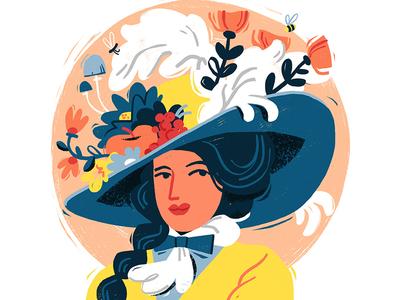 Victorian Lady faces victorian hat people illustration character design editorial illustration adobe photoshop illustration portrait