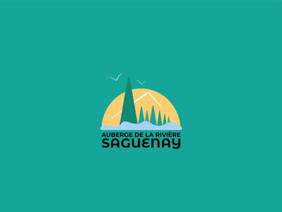 REDESIGN VISUAL IDENTITY - AUBERGE DE LA RIVIERE SAGUENAY illustrator graphicdesign art direction branding logotype logo graphic charter visual identity