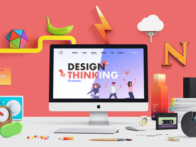 LANDING PAGE - MEETUP DESIGN THINKING art direction workshop design thinking landing page userinterface ui design ui website adobe xd