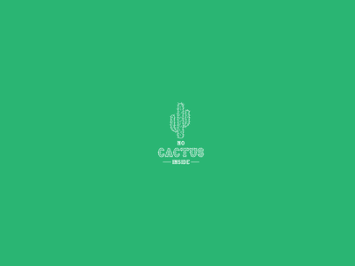 No Cactus Inside typography adobe xd vector illustration branding visual design website startup art direction graphic charter visual identity design logotype logo