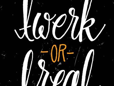 Twerk or Treat type typography lettering letters hand letters hand drawn colors color twerk halloween trick or treat