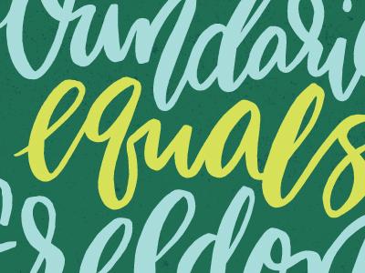 No Boundaries Equals Freedom motivational monday monday motivational color colors hand lettering hand drawn hand letters letters lettering typography type